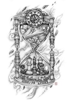 Tattoo Maze - A wonderful place for all things Tattoo's Time Clock Tattoo, Broken Clock Tattoo, Time Piece Tattoo, Clock Tattoo Design, Tattoo Design Drawings, Tattoo Designs Men, Hourglass Drawing, Hourglass Tattoo, King Tattoos