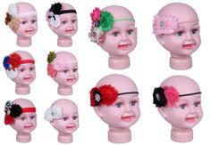 1pcs Baby Girls Polyester Lace Ruffle Flower Hairband Elastic Headband Hair Band