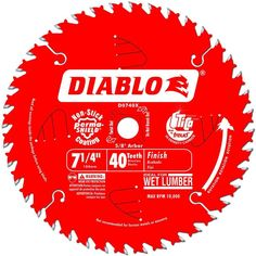 Freud D0740X Diablo 7-1/4 40 Tooth Atb Finishing Saw Blade With 5/8-Inch Arbor,