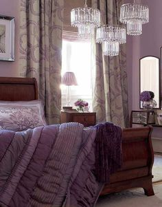 Amethyst Purple romantic bedroom