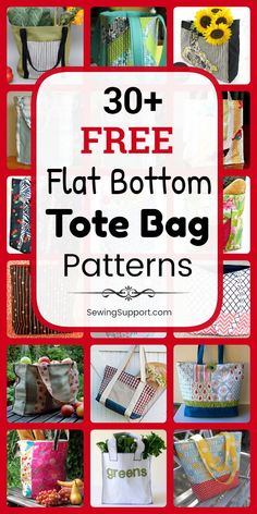 free structured, box-style, flat bottom tote bag patterns, tutorials, and diy sewing projects. Styles include easy and simple tote bag patterns for beginners… Bag Patterns To Sew, Tote Pattern, Sewing Patterns Free, Free Sewing, Tote Bag Pattern Free Easy, Embroidery Patterns, Machine Embroidery, Diy Sewing Projects, Sewing Projects For Beginners