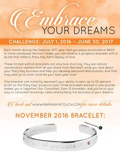 Embrace Your Dreams with Mary Kay November 2016 Dream Challenge, Mary Kay Ash, Core Beliefs, Months In A Year, Free Blog, Dreaming Of You, Dreams, November, Posts