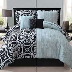 Black And White Bedding Sets Twin Xl - Top quality twin beds for children really are a nice alternative, if this really is Luxury Comforter Sets, King Comforter Sets, Queen Bedding, Single Bedroom, Small Room Bedroom, Master Bedroom, Teen Bedroom, Teal Bedding, White Bedding
