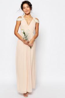 Vestido de novia civil boho nude $ 90.000