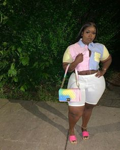 Thick Girls Outfits, Curvy Girl Outfits, Dope Outfits, Plus Size Outfits, Stylish Outfits, Fashion Outfits, Fashion Hacks, Fashion Tips, Thick Girl Fashion