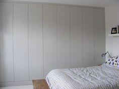 farrow and ball blackened - wall wardrobe with push fittings Dream Bedroom, Home Bedroom, Bedroom Decor, Bedrooms, Bedroom Wardrobe, Built In Wardrobe, Grey Interior Design, Interior Design Inspiration, Wardrobe Solutions