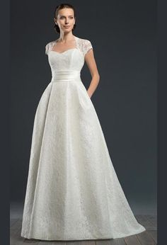Кружевное свадебное платье а силуэт с карманами | Lace wedding dress a line with pockets