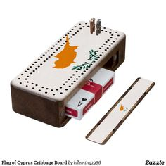 Flag of Cyprus Cribbage Board