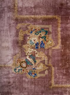 "#198 Chinese Art Deco carpet 10'0"" x 13'6"" circa 1930"