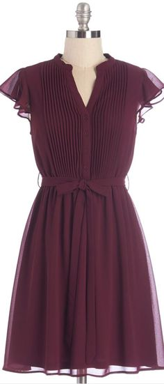 plum chiffon dress