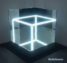 Jeppe Hein's Neon Mirror Cube