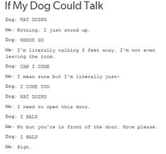 If my dog could talk//