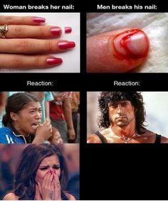 Men Vs Women Reactions