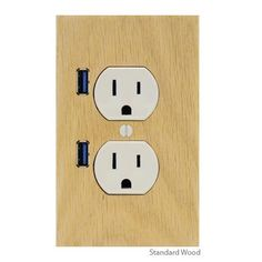 Outlet cover with USB port