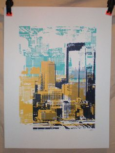Pittsburgh Skyline Print – Altered Pittsburgh – Silkscreen Print Pittsburgh Skyline Print Altered Pittsburgh by zappamade on Etsy Inspiration Art, A Level Art, Illustration, Silk Screen Printing, Art Sketchbook, Bunt, Printmaking, Print Design, Painting
