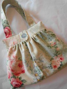 Rare French antique fabric bag