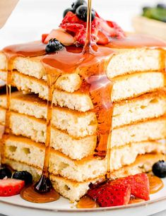 Breakfast Pancakes, Pancakes And Waffles, Sweet Breakfast, Brunch Recipes, Breakfast Recipes, Pancake Recipes, Basic Butter Cookies Recipe, Breakfast Specials, Croatian Recipes