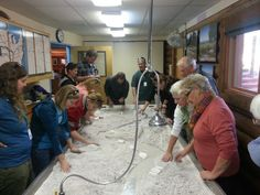 Certified Interpretive Guide students interact with our river table.