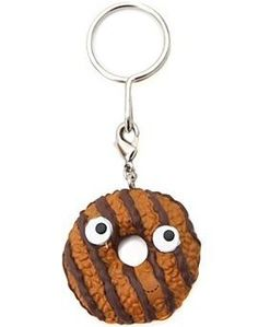 Samoa Cookie figure by Heidi Kenney, produced by Kidrobot. Yummy World, Samoa Cookies, Keychain Design, Toys, Gifts, Activity Toys, Presents, Games, Toy