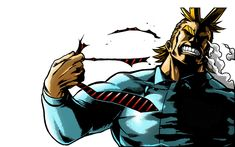 All might getting into action