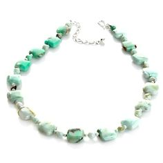 """Jay King Green Opal Sterling Silver Beaded 18-1/4"""" Necklace at HSN.com."""