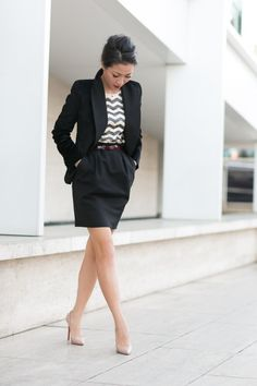 Great work look with luxurious details. Sequins and velvet make this feel good as well as look good. / Wendy's Lookbook