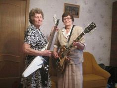 Shredding with Ethel and Phyllis Jean.