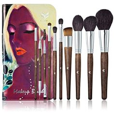 FUNNY365 Wooden Handle Professional Makeup Brush Set-10 Pieces with Art Bag ** Be sure to check out this awesome product. (This is an affiliate link and I receive a commission for the sales)