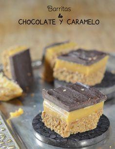 barritas de cereales y caramelo. Recetas para hacer con niños.  Cocinar con niños. CharHadas.com