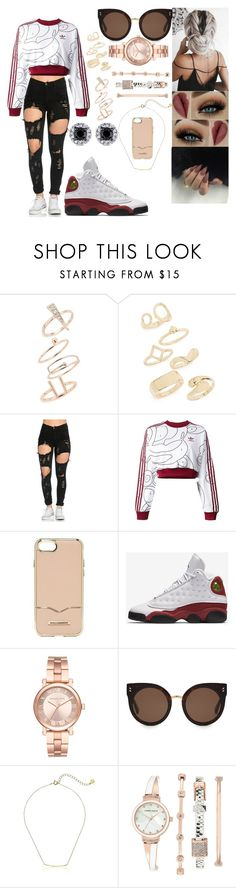 """☝☝"" by msroro12 ❤ liked on Polyvore featuring Topshop, adidas Originals, Rebecca Minkoff, NIKE, Michael Kors, STELLA McCARTNEY, Gorjana and Anne Klein"