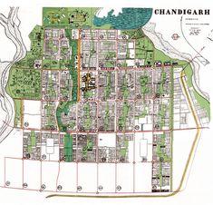 Le Corbusier's Chandigarh plan - makes use of the Superblock idea