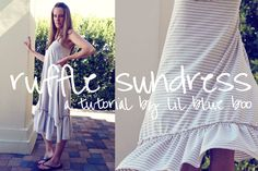 free ruffle sundress tutorial