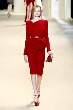 elegant red ensemble from Elie Saab
