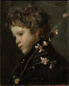 "Antonio Mancini:  ""Almond Blossoms"""