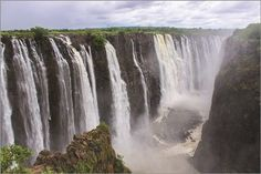 VICTORIA FALLS border zimbabwe and zambia africa NATURE POSTER water 24X36