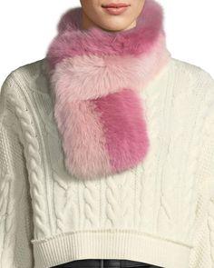 786ab00fdca Charlotte Simone Cuddle Cuff Two-Tone Fur Scarf