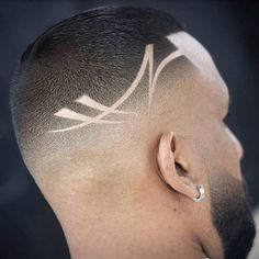 Cool haircuts for the handsome guys - DarlingNaija Cool Haircuts, Hairstyles Haircuts, Haircuts For Men, Cool Hairstyles, Hair Designs For Boys, Haircut Designs For Men, Mens Hair Designs, Hair Tattoo Designs, Hair Cutting Techniques