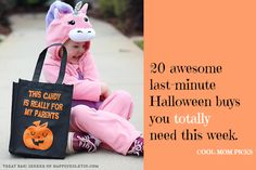 From the world's coolest treat bags to candy (and more candy) and maybe some toothbrushes, here are 20 awesome Halloween picks that we need right now.