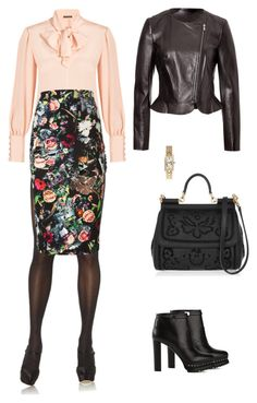 """My look for september 2015"" by mariyayashina ❤ liked on Polyvore featuring Leg Avenue, Alexander McQueen, McQ by Alexander McQueen, Dolce&Gabbana and Diane Von Furstenberg"