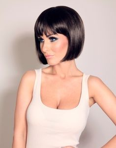 Dark dark brown bob...yes if my hair ever behaved like this