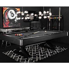Jaxxon Pool Table | Pool Table | Game Room | Inspiration | Z Gallerie. Nice man-cave for your honey-bunny.