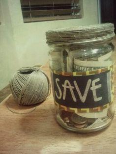 Painted jar for saving craft ideas pinterest jars for Savings jar ideas