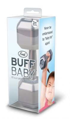 Buff Baby Rattle by Quirks...this is kinda funny - every crossfit baby needs one ;-)