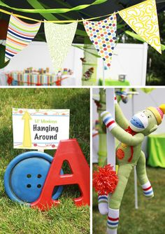 Sew Cute Sock Monkey Party (via @theCreativeOrchard) #party #birthday #theme
