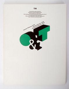 Siegfried Odermatt and Rosmarie Tissi. Swiss Post-modern designers with strong typography influences. Typo Logo, Logo Branding, Branding Design, Logo Design, Logos, Lettering Design, Hand Lettering, Postmodernism, Type Design