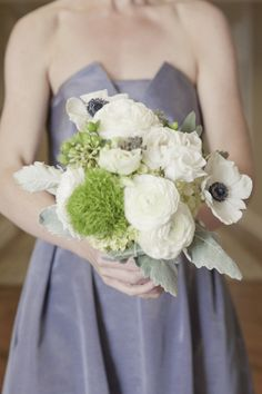 pretty colors and flowers for BM looks like my wedding choices.. just add in some light and dark purple flowers