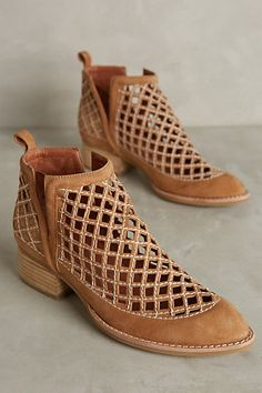 Jeffrey Campbell Taggart Booties #anthropologie - I love these boots and they're available in 5 colors!