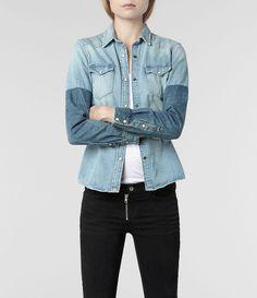 AllSaints Reine Denim Shirt | Womens Shirts