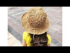 Kağıt ip ile şapka yapımı-2 - YouTube Panama Hat, Crochet Hats, Youtube, Scarf Patterns, Crafts, Fashion, Hats And Caps, Knitting Hats, Moda