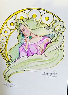 Rapunzel by Derae Rai  Disney Tangeled fan art-doodle of the day  Joker inspired Disney Princess self portraits